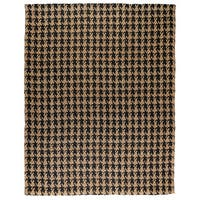 Kosas Home Handwoven Lad Houndstooth Black Jute Rug (9' x 12') - 9' x 12'