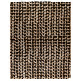 Kosas Home Handwoven Lad Houndstooth Black Jute Rug (9' x 12')
