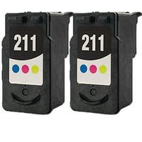 PG211 (2974B002) Compatible Inkjet Cartridge For MP250Canon Pixma MP270Canon Pixma MP495Canon Pixma MX340Pix (Pack of 2)