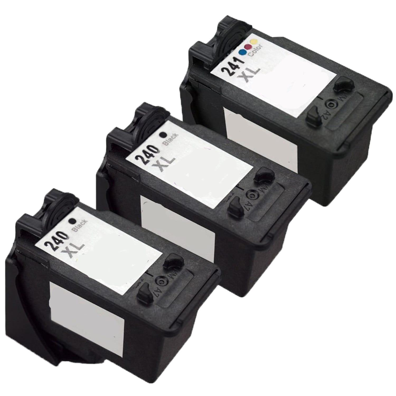 3 PK PG-240XL CL-241XL Black /& Color  Ink Cartridge For Canon MX392 MX432 MX452