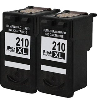 PG-210XL Compatible Inkjet Cartridge For MP250Canon Pixma MP270Canon Pixma MP495Canon Pixma MX340Pixma MP240Pixma (Pack of 2)