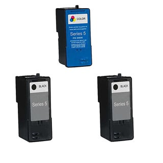Dell 2 X M4640 Black & 1 M4646 Color and Color Compatible Inkjet Cartridge For 924 Dell 942 Dell 944 (Pack of 3)