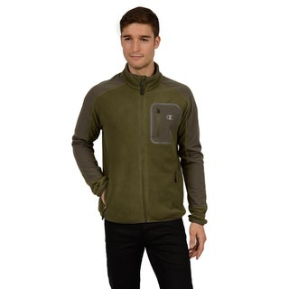 Champion Men's Mock Neck Set in Sleeve Two Sided Anti-pill Microfleece (Tall Sizes)