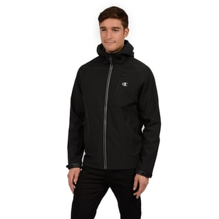 Champion Men's Hooded Mock Neck Soft Shell