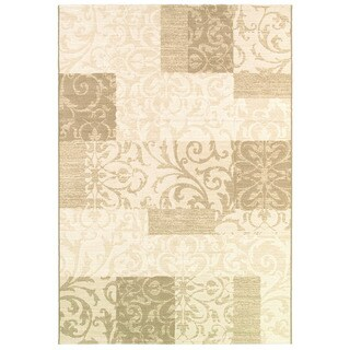 Couristan Marina Cyprus/ Pearl-Oyster Rug - 9'2 x 12'9