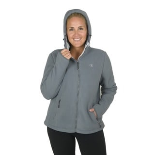 Champion Women's Plus Perfect Hooded mountain go-to jacket with Faux Sherpa Interior