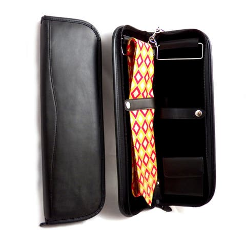 Bey Berk Leather Travel Tie Case - Black