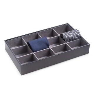 Bey Berk Leather 12-tie Storage Case
