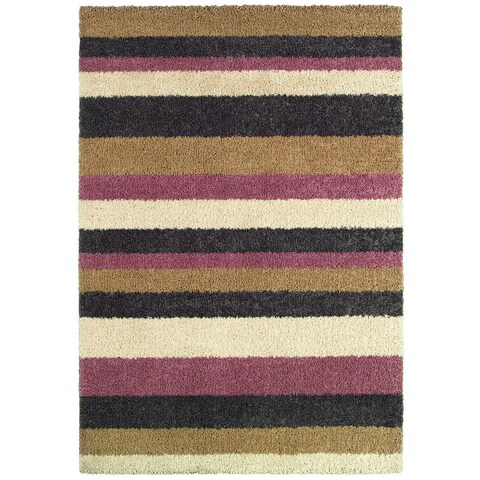 "Couristan Moonwalk Celestial Stripes/ Cream-Cameo Rose Rug (9'2 x 12'5) - 9'2"" x 12'5"""