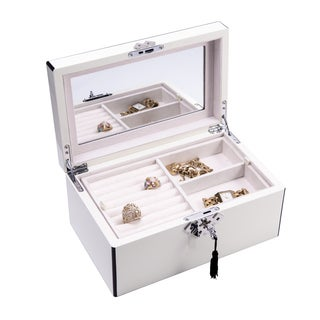 Bey Berk White 3-level Jewelry Box