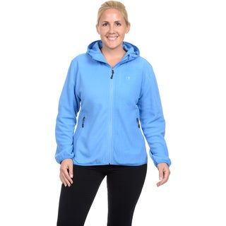 Champion Women's Plus two sided anti-pill microfleece versatile zip front hoody