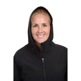 Champion Women's Plus Hooded Mock Neck Coat