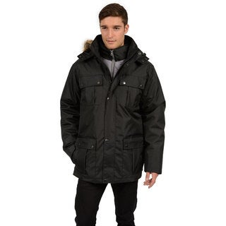 Excelled Men's Big and Tall Polyester 3/4-Length Sleeve 3-in-1 Parka
