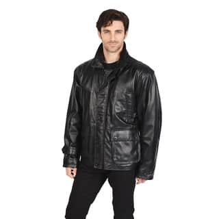 Excelled Men's Leather Car Coat (Big Sizes)|https://ak1.ostkcdn.com/images/products/10428961/P17527295.jpg?impolicy=medium
