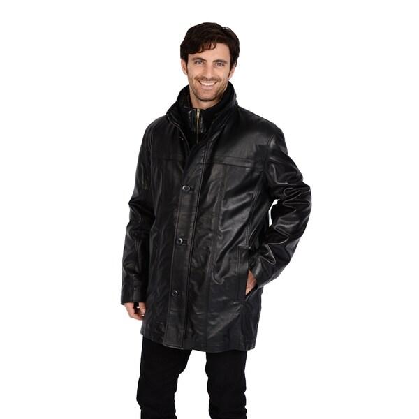 Excelled Men's Leather Car Coat (Big Sizes)