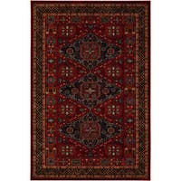 Couristan Old World Classics Kashkai Burgundy Wool Rug - 9'10 x 13'9