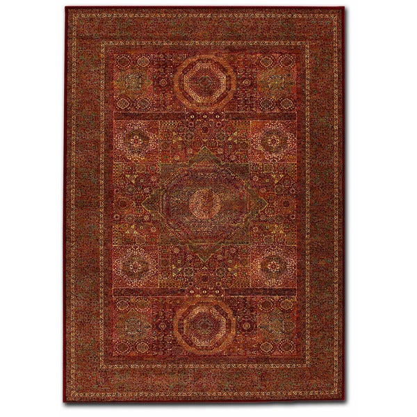 "Couristan Old World Classics Mamluken Burgundy Wool Rug - 9'10"" x 13'9"""