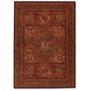 Couristan Old World Classics Mamluken Burgundy Wool Rug (9'10 x 13'9) (Option: Burgundy)