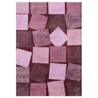 Alliyah Handmade Carmine Rose Wool Rug (5' x 8') - 5' x 8'