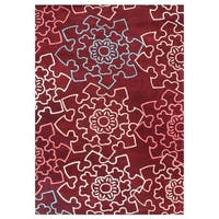 Alliyah Handmade Rocco Red Wool Rug - 9' x 12'
