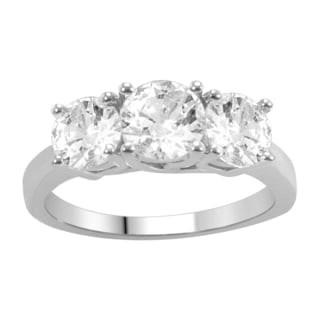 Divina 14k White Gold 1ct TDW 3-stone Diamond Anniversary Ring (H-I, I1-I2)