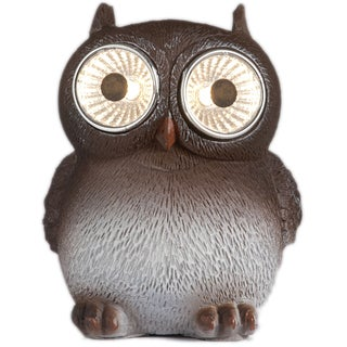 PACK OF 2 Owls with solar-powered eyes