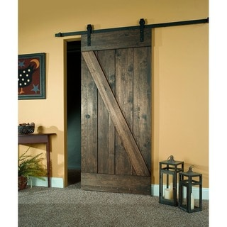 Unfinished Pine Z-design Wood Barn Door Kit (81x26)