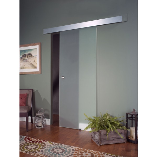 Opaque Glass Barn Door 36x80 Free Shipping Today Overstock
