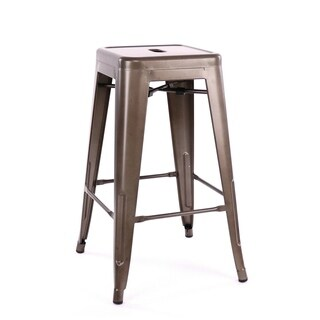 Amalfi Stackable Rustic Matte Steel Counter Stool (Set of 4)