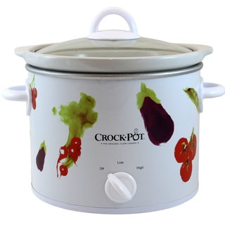 Crock-Pot 3040-VG White 4-quart Round Manual Slow Cooker