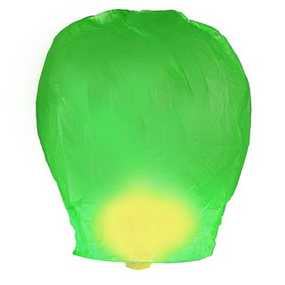 Green Sky Lanterns (4 Count)