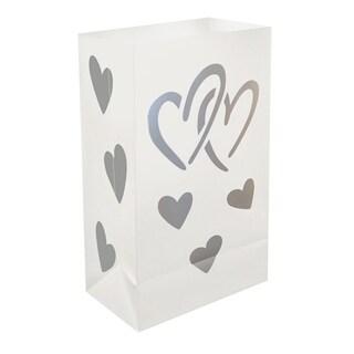 Plastic Luminaria Hearts Bags (12 Count)