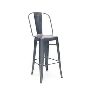Dreux Dark Gunmetal Steel 30-inch Bar Chair (Set of 4)