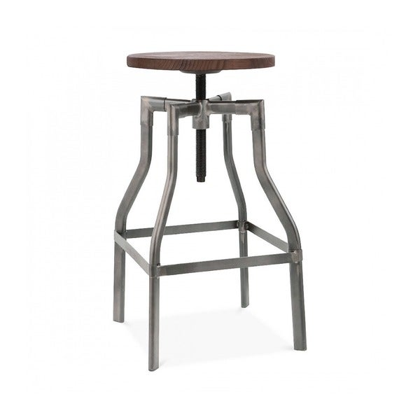 Machinist Clear Gunmetal and Wooden Adjustable Seat Steel  : Machinist Clear Gunmetal and Wooden Adjustable Seat Steel 26 inch to 32 inch Barstool 452f6e9d 325f 4eec 955e c1a9b63470aa600 from www.overstock.com size 600 x 600 jpeg 14kB