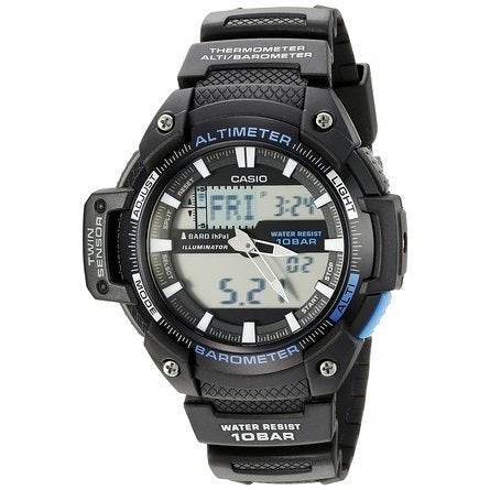 TwinSensor Altimeter Bar Thermometer Watch