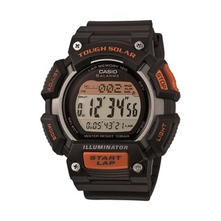 Casio Tough Solar Black/Orange Digital Sports Watch