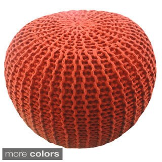Cotton Yarn 15 x 18 Pouf Ottoman by Better Trends
