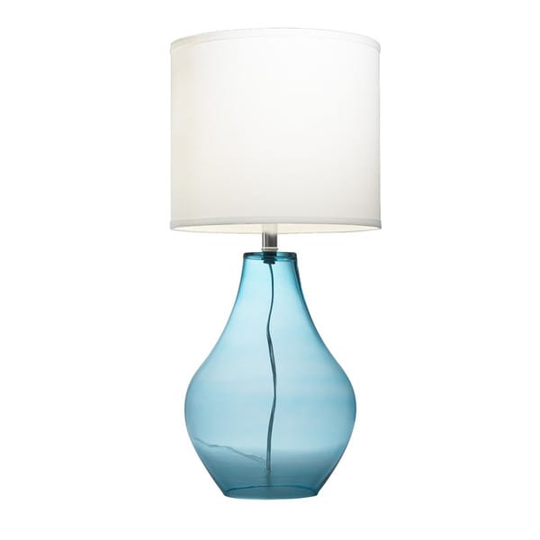 Delightful Kichler Lighting 1 Light Light Blue Glass Table Lamp
