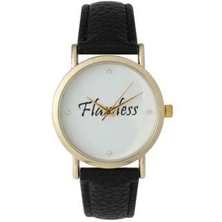 Olivia Pratt Women's 'Flawless' Leather Strap Watch