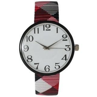 Olivia Pratt Women's 14620 Checker Stretch Bracelet Watch