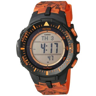 Casio Men's PRG300CM-4CR Pro Trek Solar-Powered Watch with Orange Band