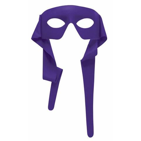 Purple Eye Mask with Ties