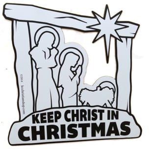 Keep Christ in Christmas Magnet