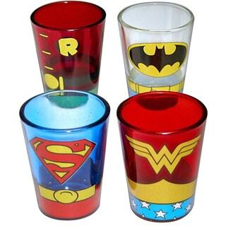 Dc Comics Superheroes Uniform 4-pack Shot Glasses