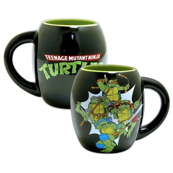 Teenage Mutant Ninja Turtles Oval Black 18-ounce Coffee Cup