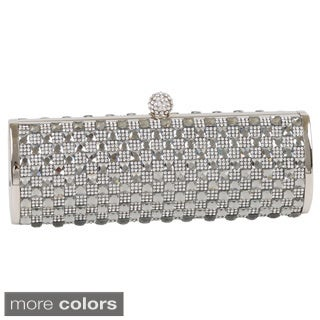 J. Furmani Checkered Crystal Clutch