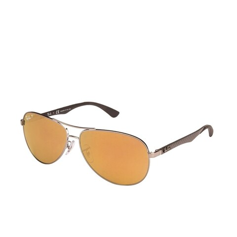 Ray-Ban Tech RB8313 Unisex Shiny Gunmetal Carbon Fiber Frame Rose Lens Sunglasses