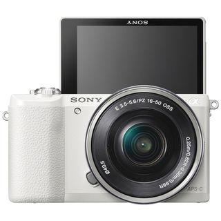 Sony Alpha a5100 Mirrorless 16-50mm Lens (White)