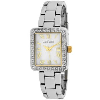Anne Klein Women's 10-9623MPTT Classsic Rectangle Silvertone Stainless Steel Bracelet Watch