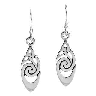 Handmade Celtic Knot Drop .925 Sterling Silver Dangle Earrings (Thailand)